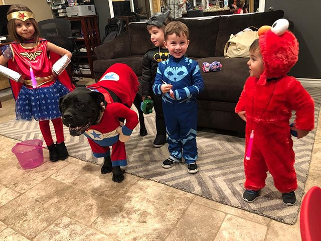 How our Halloween night started....this is before we got to more homes and it turned into chaos! So fun to see the kids so excited. But I. AM. POOPED.