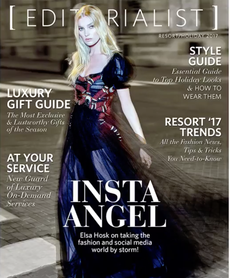 Elsa Hosk Editorialist Mag Cover