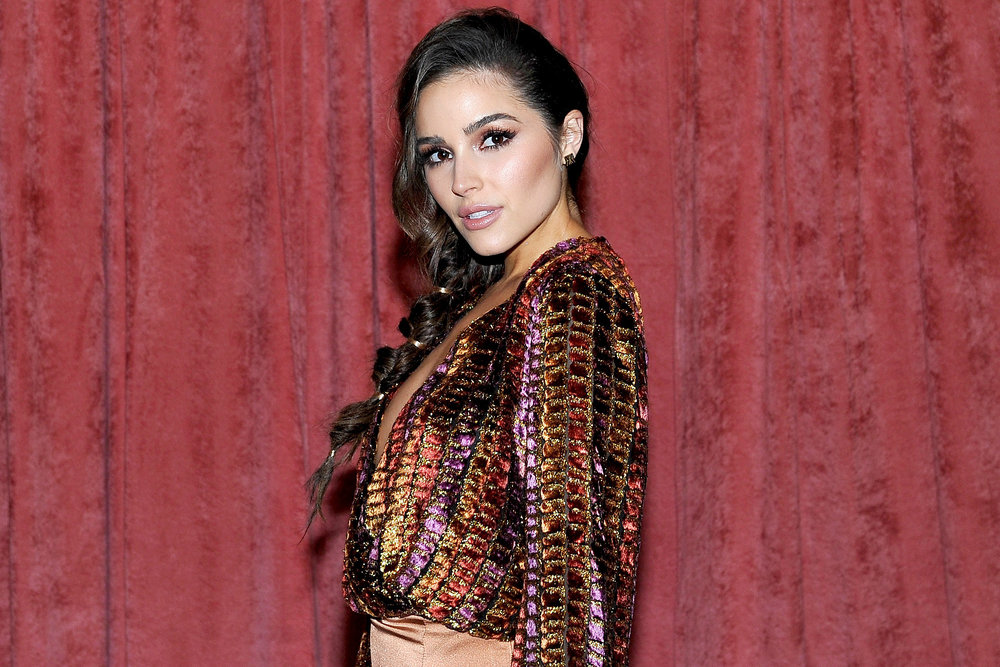 Olivia Culpo Side Braid Gold Detail