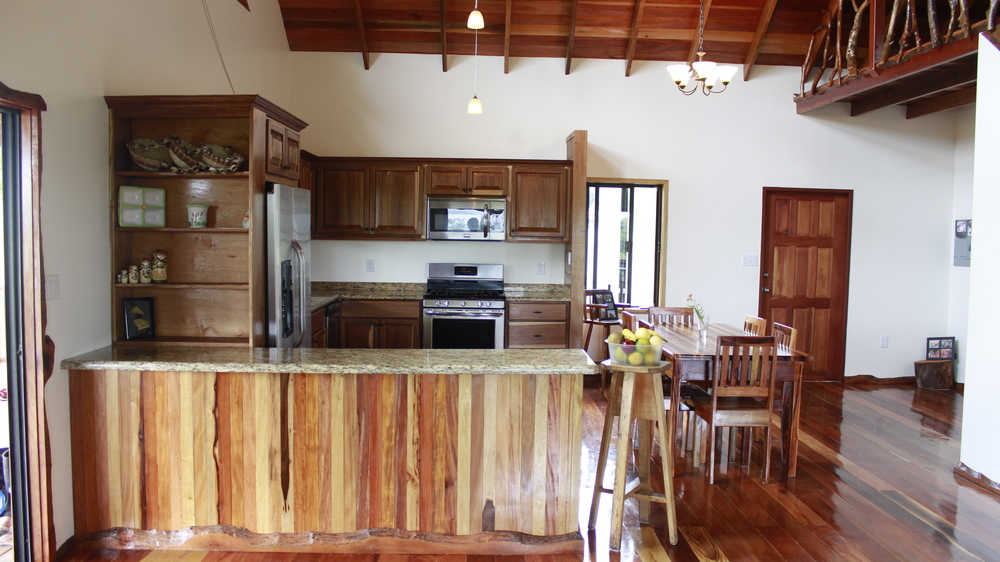 our custom home kitchens include the finest local hardwood, modern appliances, and a comfortable way of living
