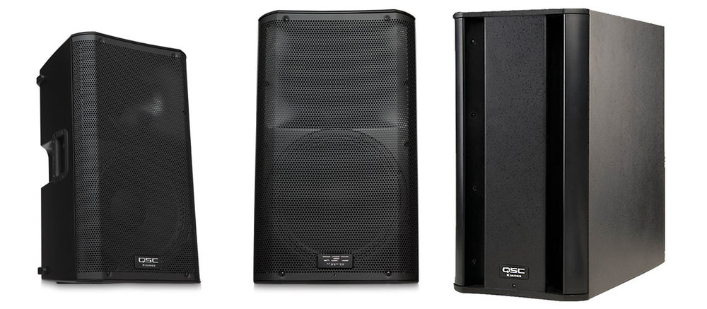 QSC K12 and K8 Speakers
