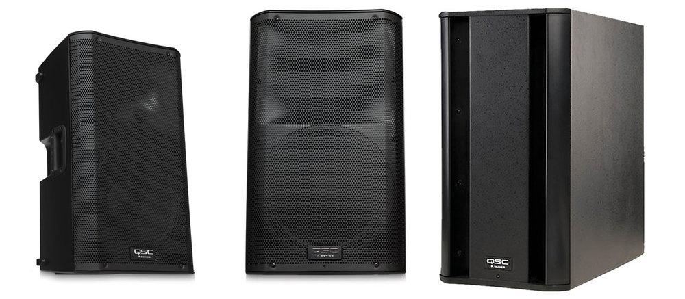 QSC K12's, K8's, and KSub