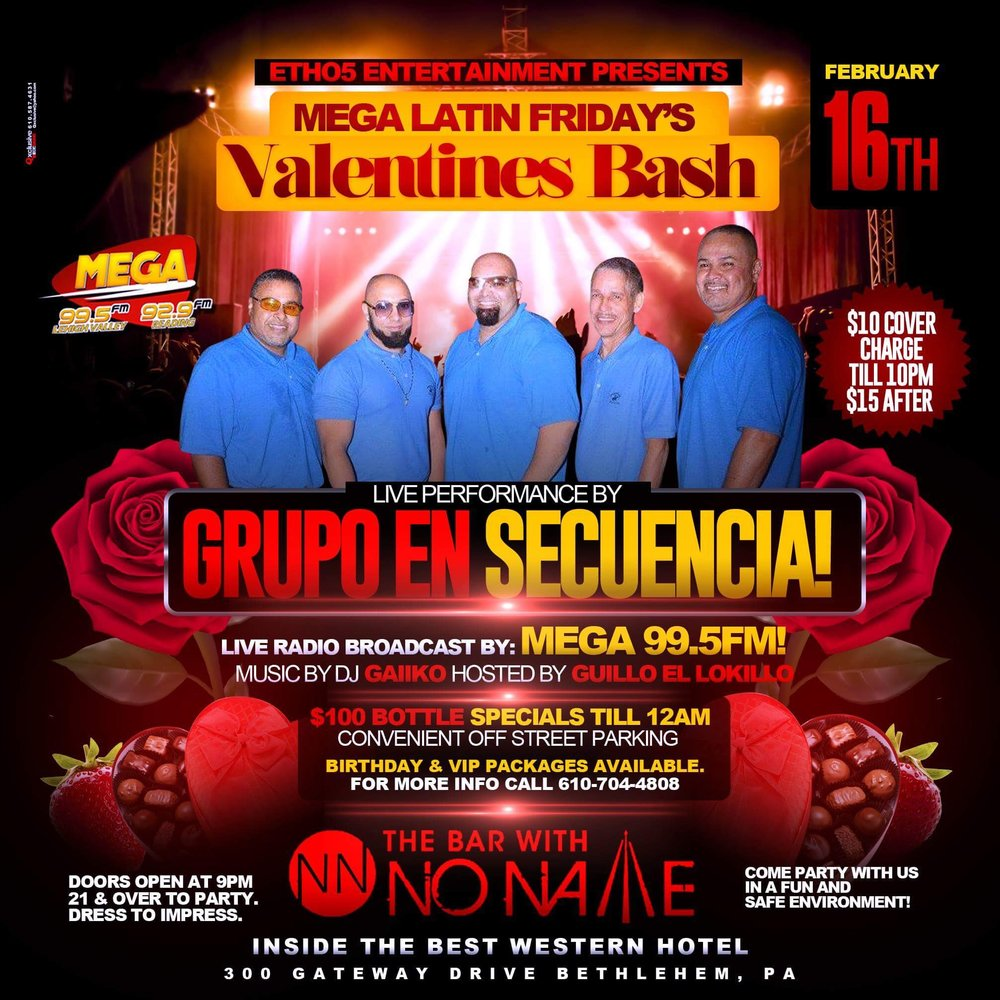 Valentines Bash with Groupo en Secuencia, february 16th