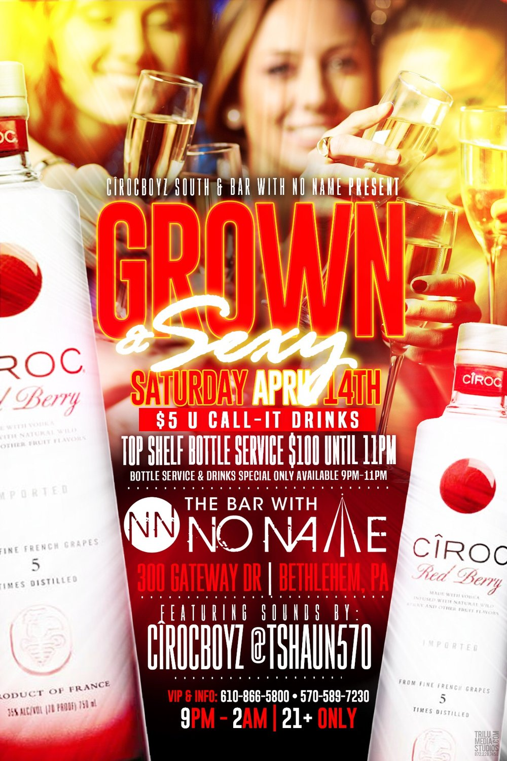 Grown and Sexy Saturdays, april 14th