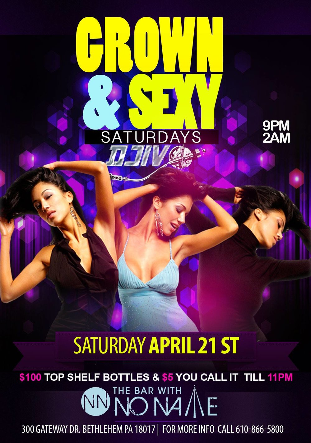 Grown and Sexy Saturdays with DJIV at the bar with no name