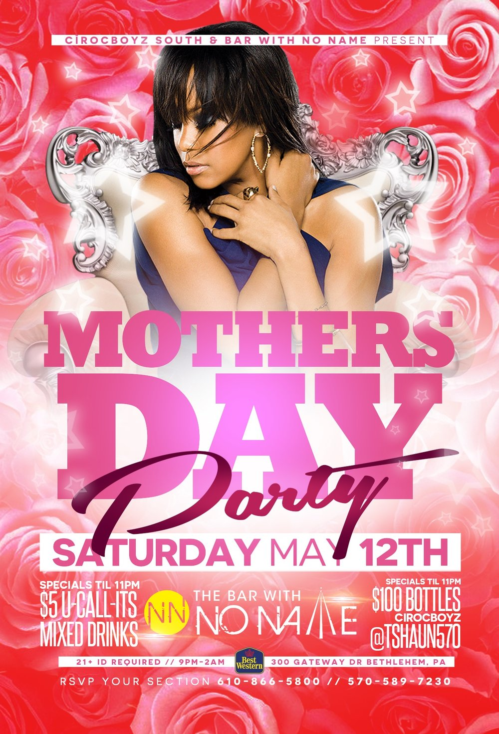 Mother's Day Party Saturday with Cirocboyz South