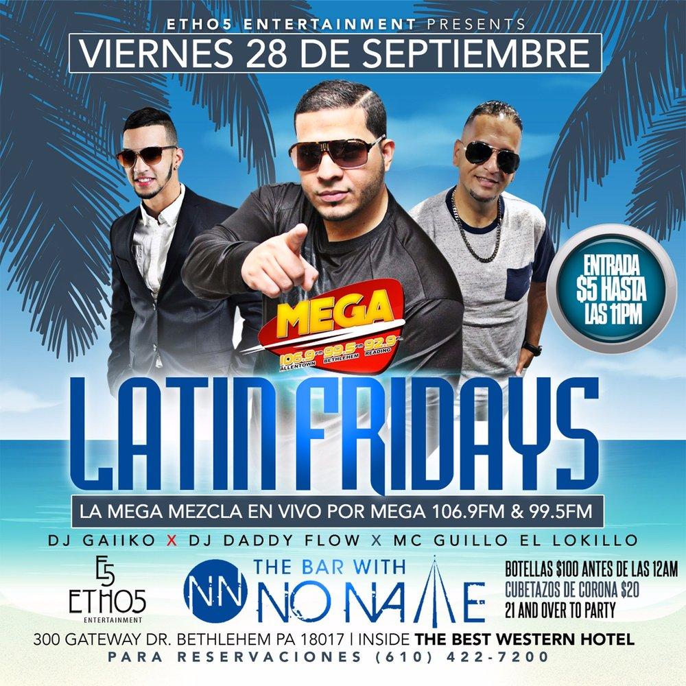 Latin Fridays at the Bar with No Name