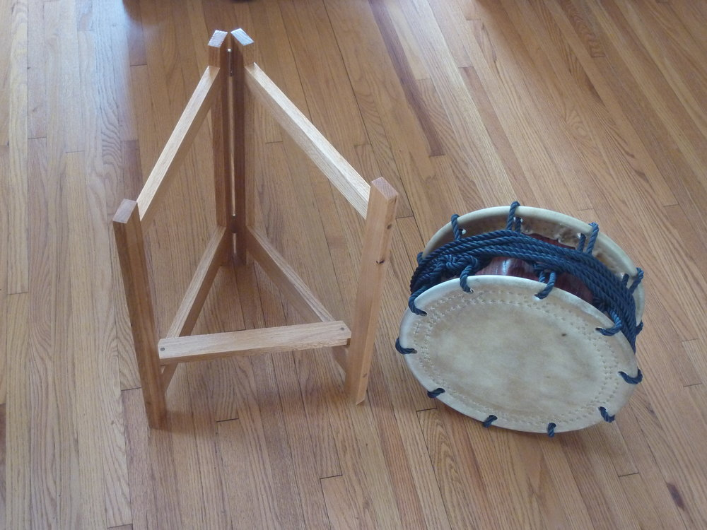 TRIANGLE STAND   Painted Pine:  $175.00 Varnished Oak:  $195.00