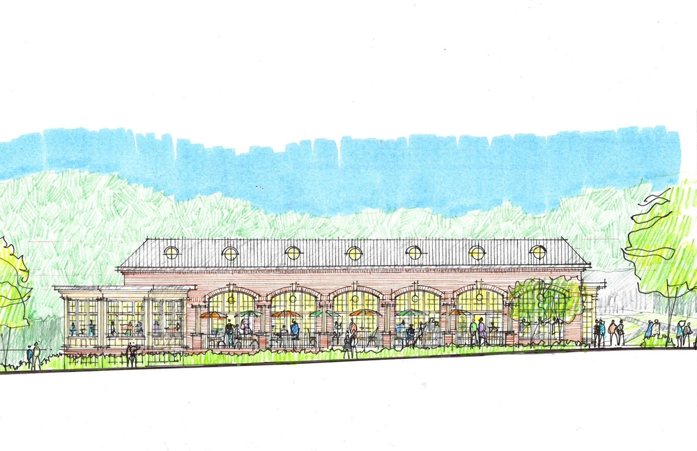 Early concept sketch by PRA Architects