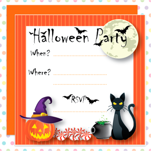 SPOOKY! Halloween PARTY Invitations for CHILDREN