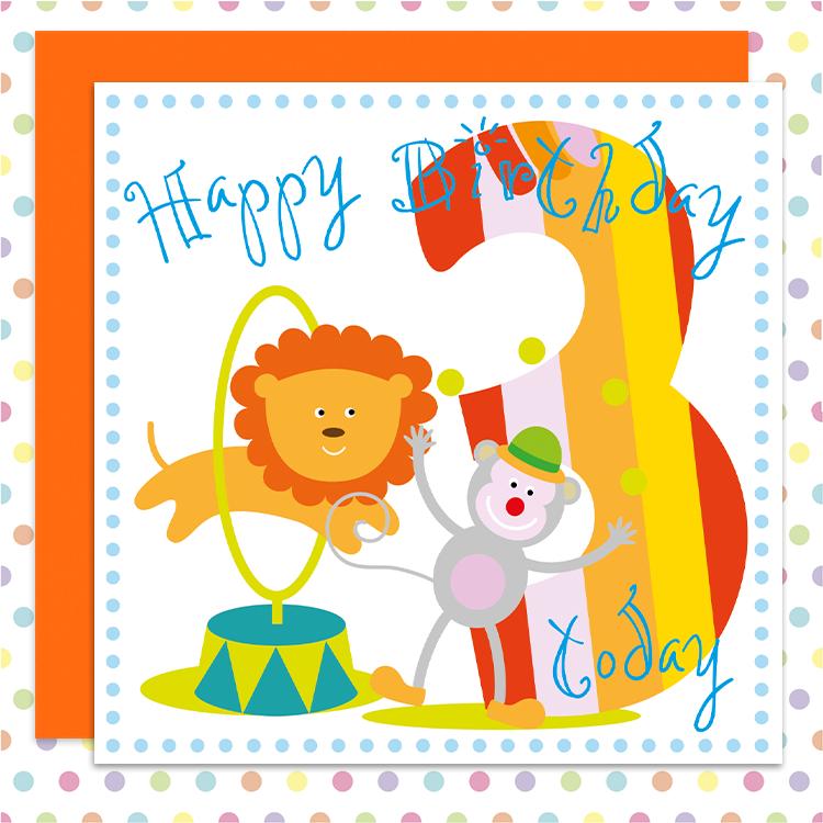 Cheeky Monkey 3rd Birthday Card