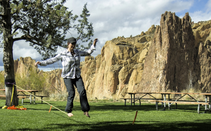 Some fun at Smith Rock State Park in Oregon.