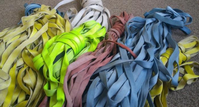 Pile of webbing.