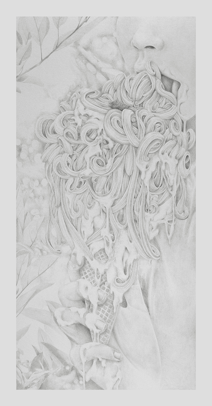 cream  pencil on paper april 2016