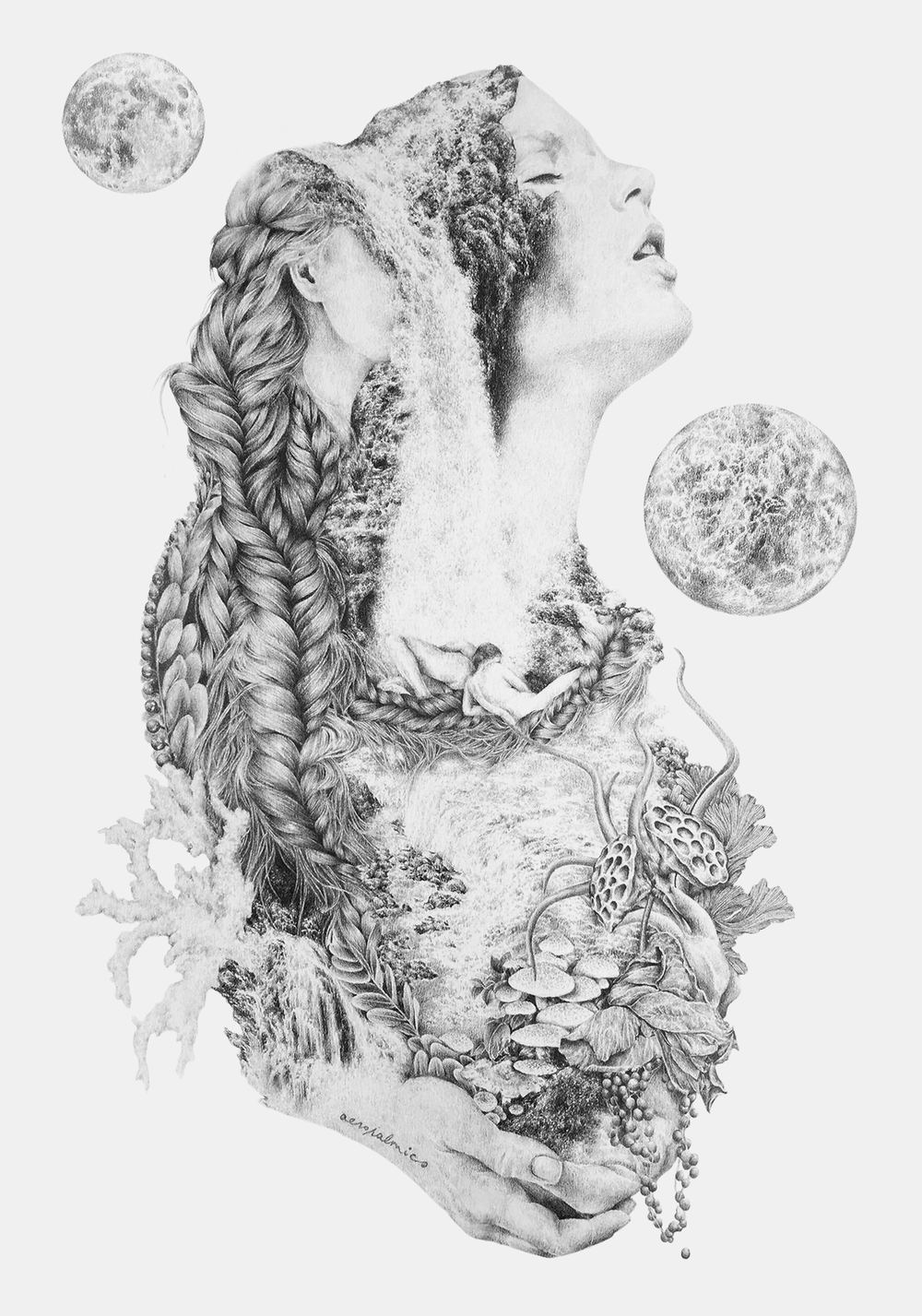 just as strange as you  created for a group show by dia de muertos singapore, inspired by work of frida kahlo. exhibition opens 7th november on emily hill, 11 upper wilkie rd  pencil on paper october 2015
