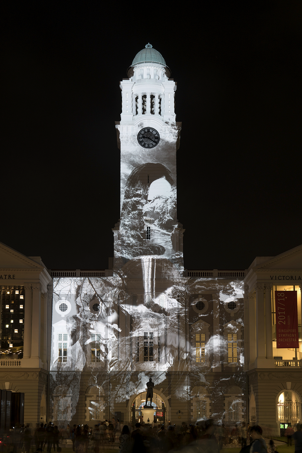 rock-built cities  Art Skins Projection Mapping for Annual Light to Night Festival 2018 - Civic District, Singapore  Light to Night Festival is an annual urban art event that celebrates the Civic District of Singapore. Over two weeks, this festival explores the sensation of light with colour through visual, literary and performing arts, transforming major cultural institutions and parks into spectacular works of art.  projection on architecture nov 2017