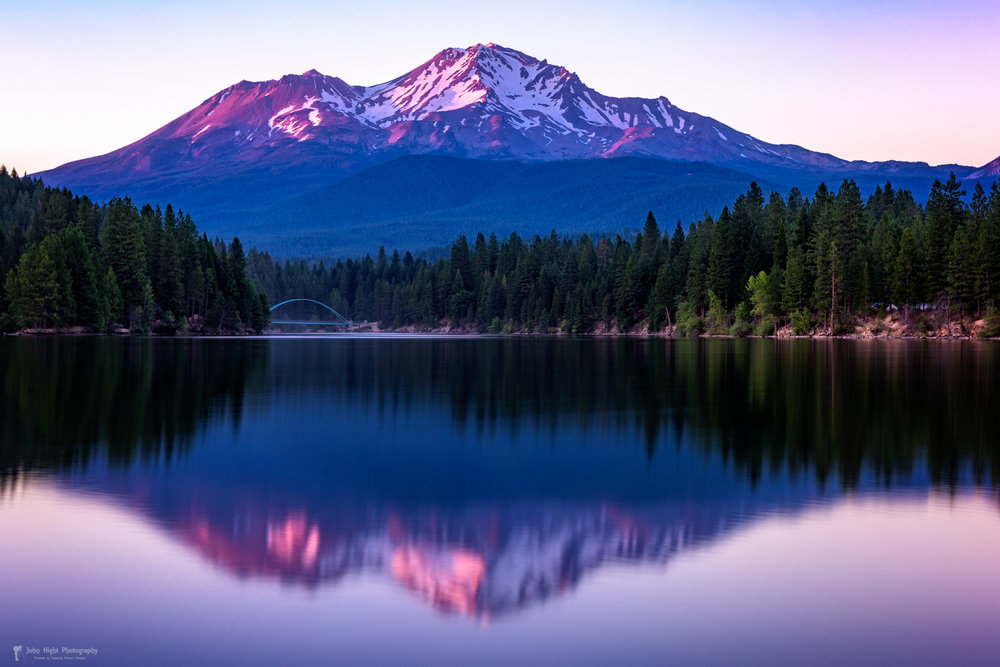 Reflection on California's Lake Siskiyou of Mount Shasta