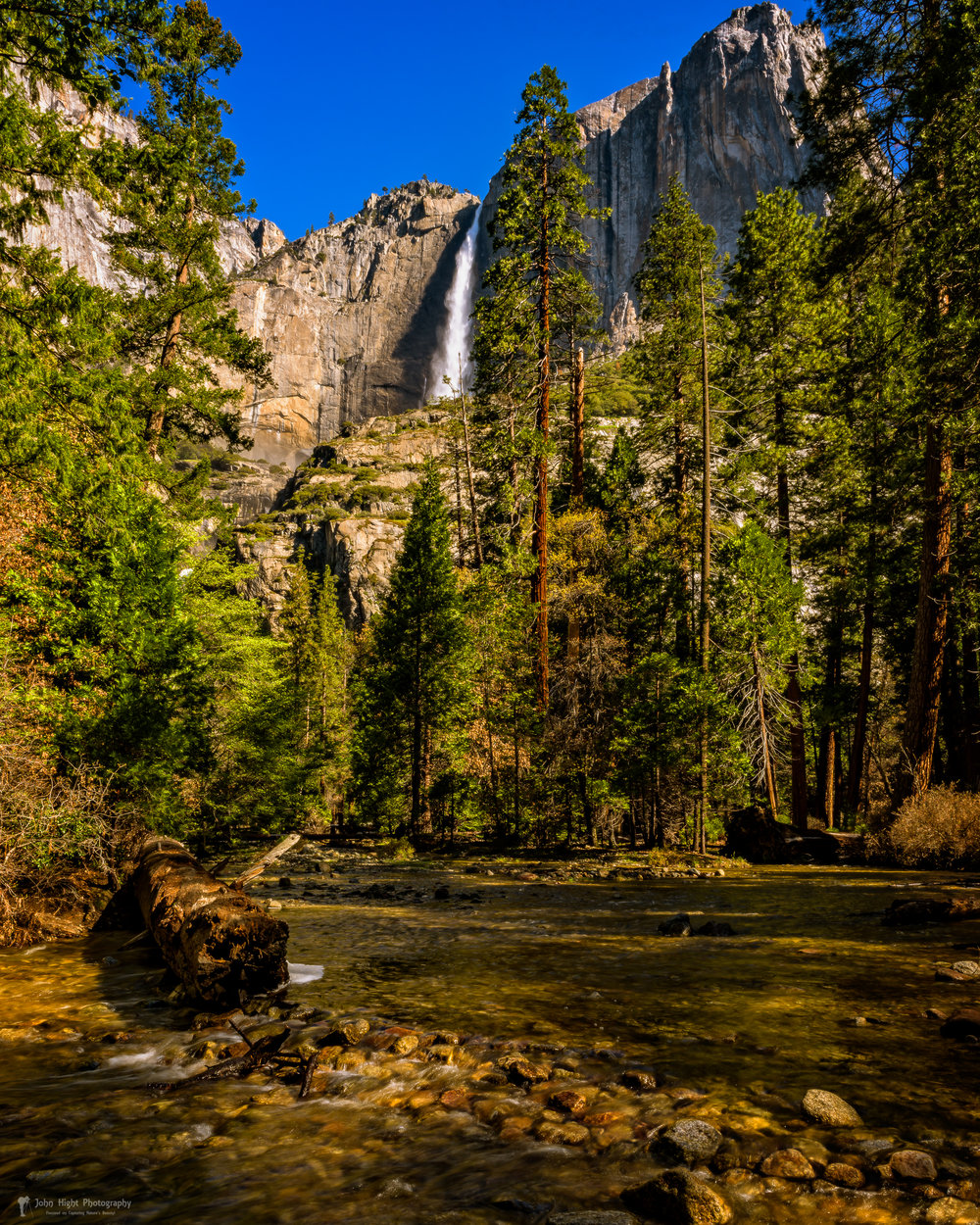 Upper Yosemite Falls from Yosemite Creek