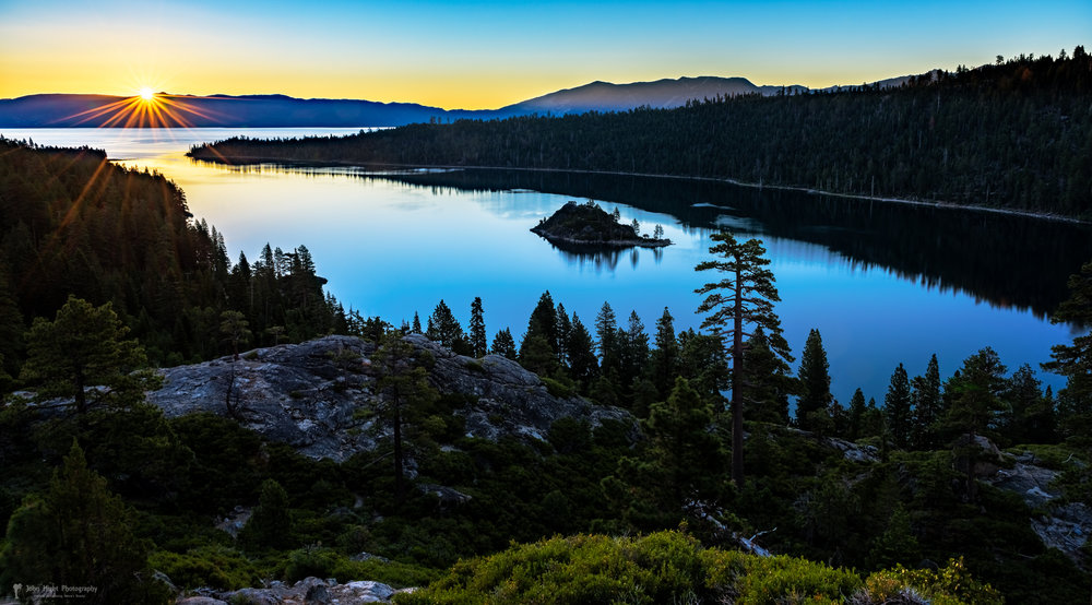 Radiant Sunrise on Emerald Bay