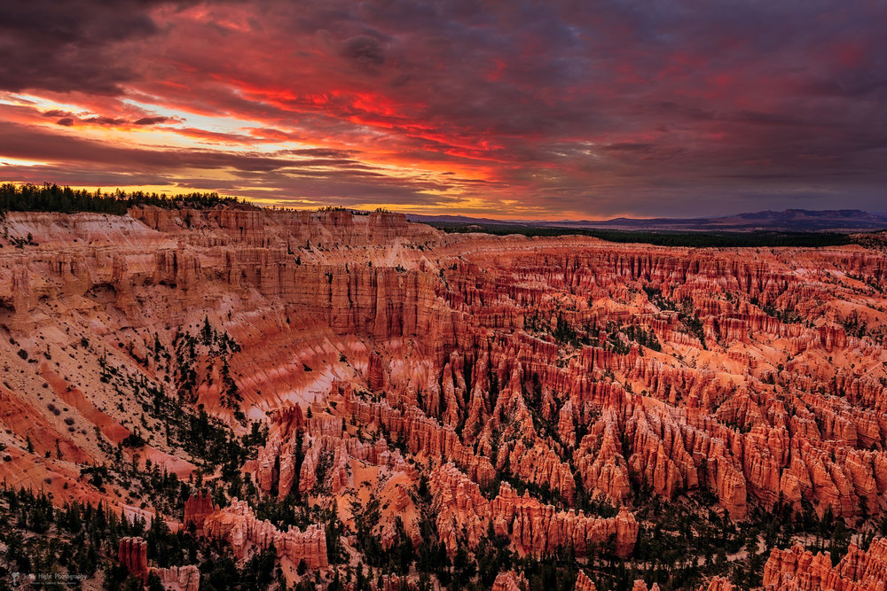 Sunset Clouds Over Bryce Canyon