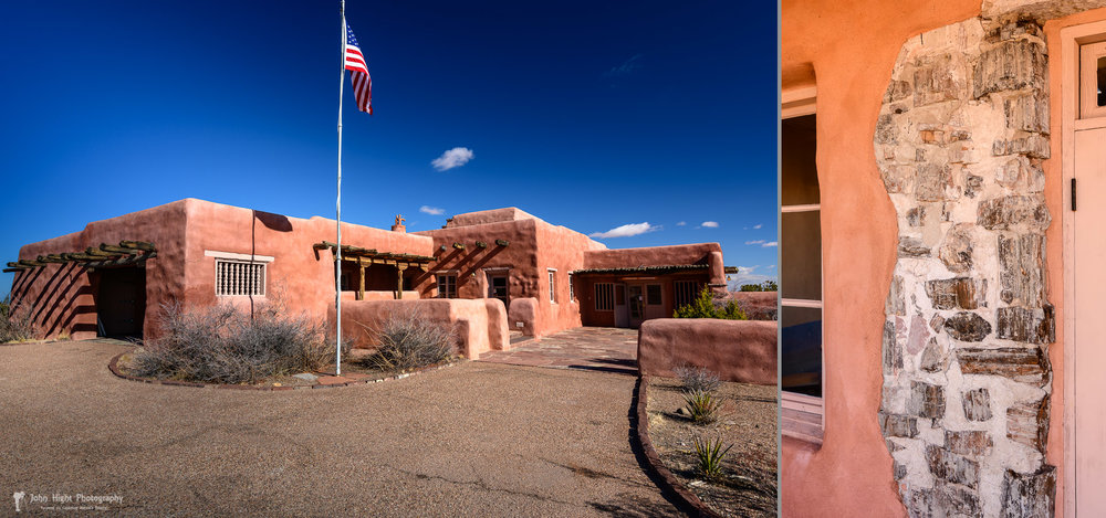 Painted Desert Inn and Exposed Petrified Wood Wall