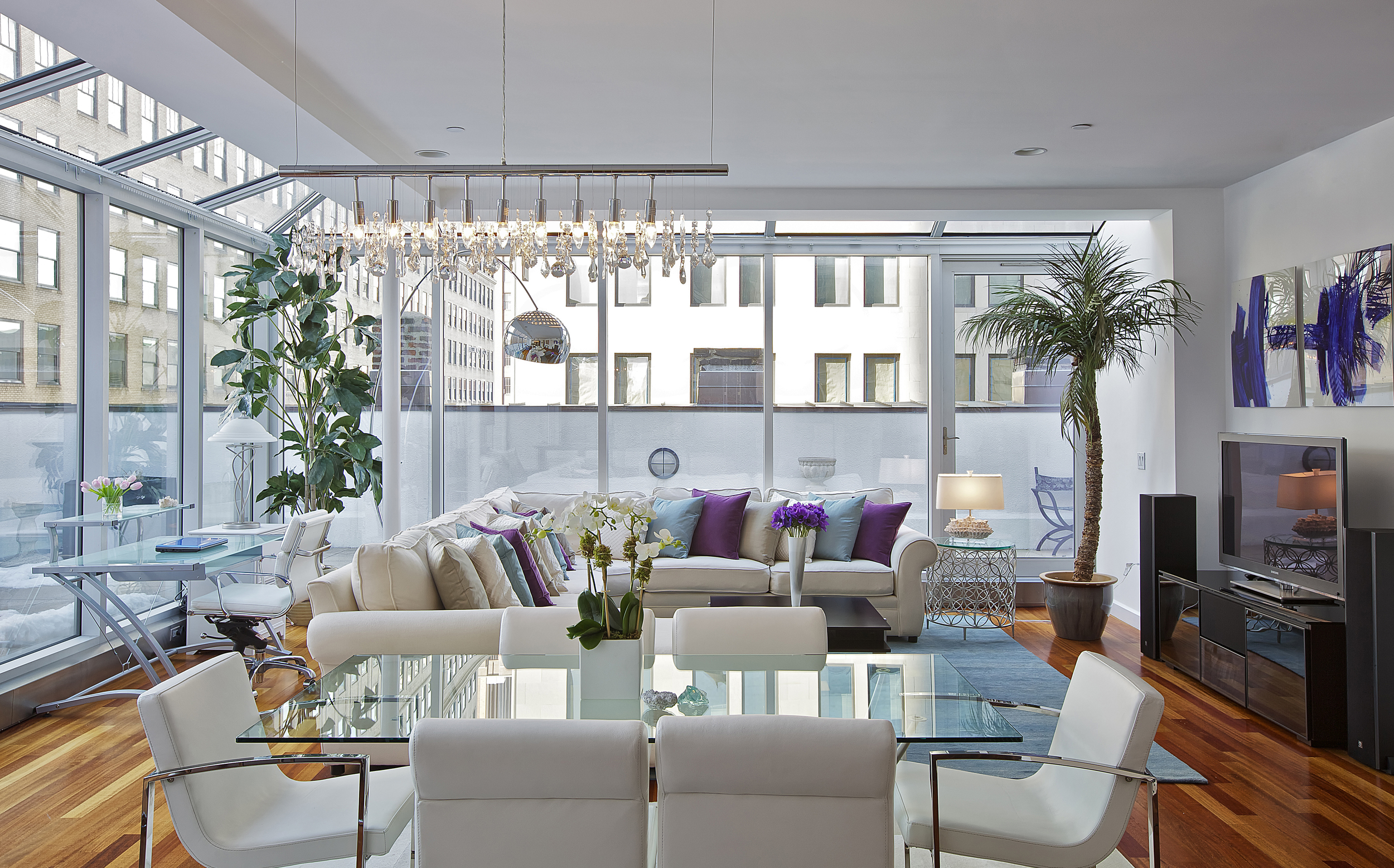 Tribeca Penthouse Living Room Dining