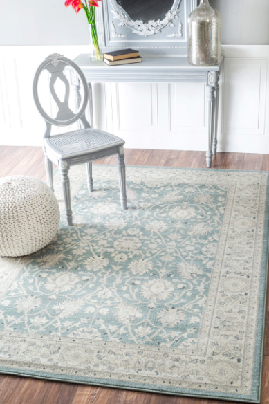 Credit: Overstock.com  Overdyed and distressed rugs use a cycle of dyeing, washing or distressing to achieve a one-of-a-kind finish. During this artisanal process, colors blend and textures soften for a vintage feel that's good for moderate foot traffic.
