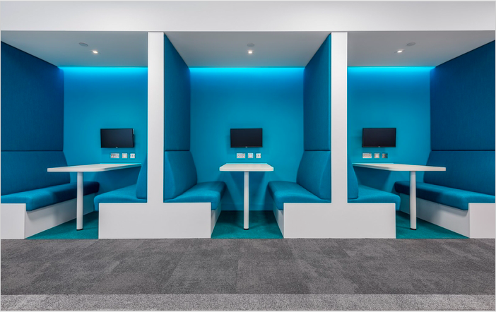 Space & Solutions  has designed the new offices of tech recruitment company  Gattaca , located in London, England.