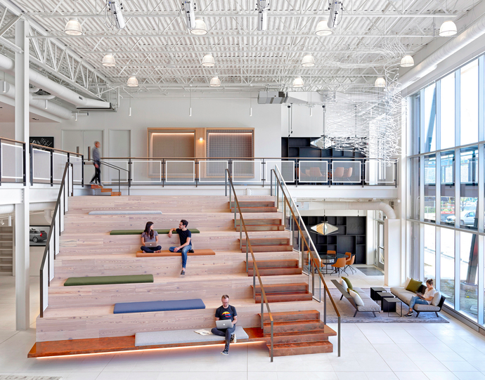 Assembly Design  has designed the new offices of transportation network  Uber , located in Pittsburgh, Pennsylvania.