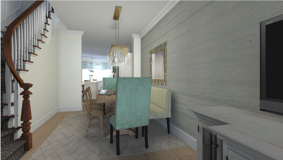 3D RENDER OF THE DINING ROOM