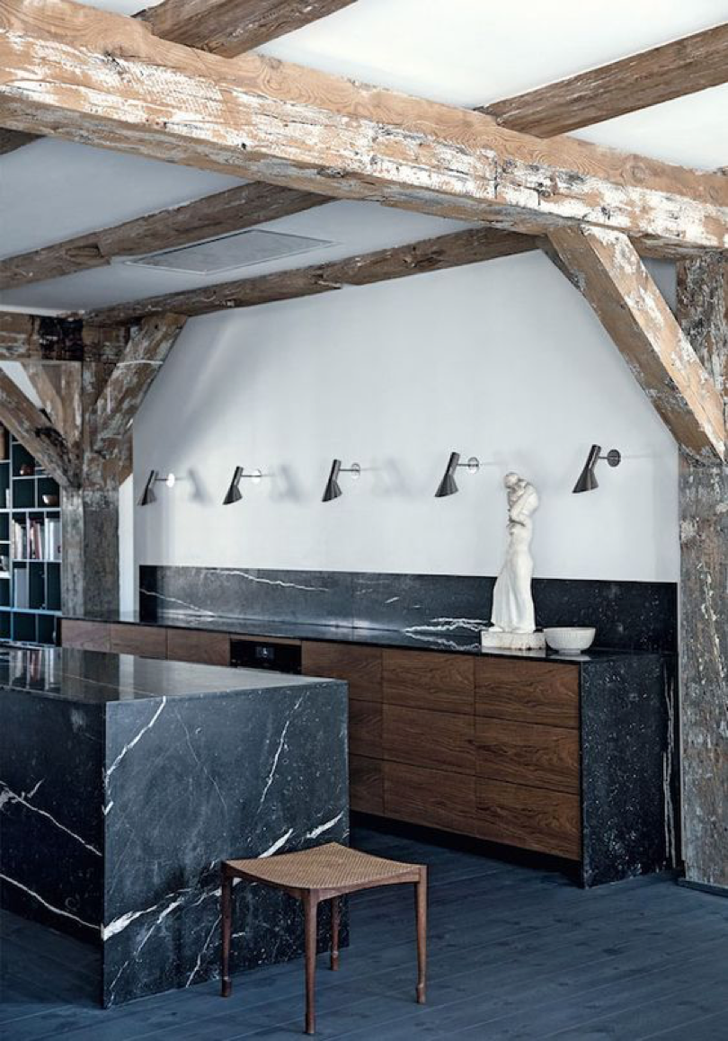 -	A black marble kitchen | Home of Thomas Schlosser