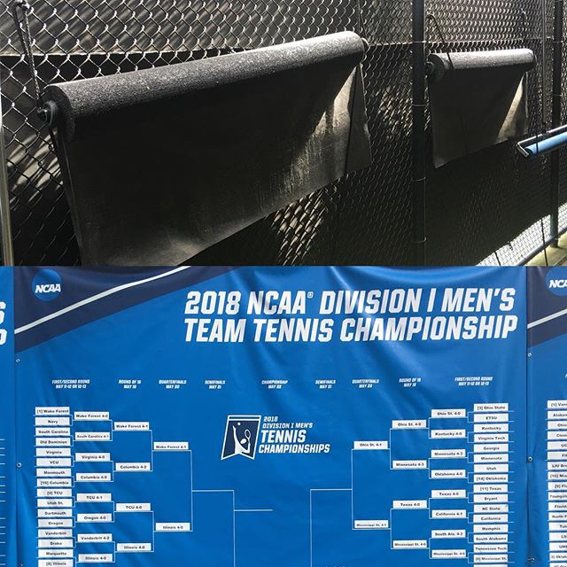 """Battowel's save the day at a rainy NCAA tennis week. """"Spread the word and the water."""""""