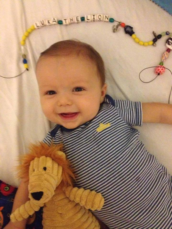 Our beautiful Luka The Lion, at around 4 months in July 2014, after he received his very first Beads of Courage, a demonstration of his bravery, strength and resilience.