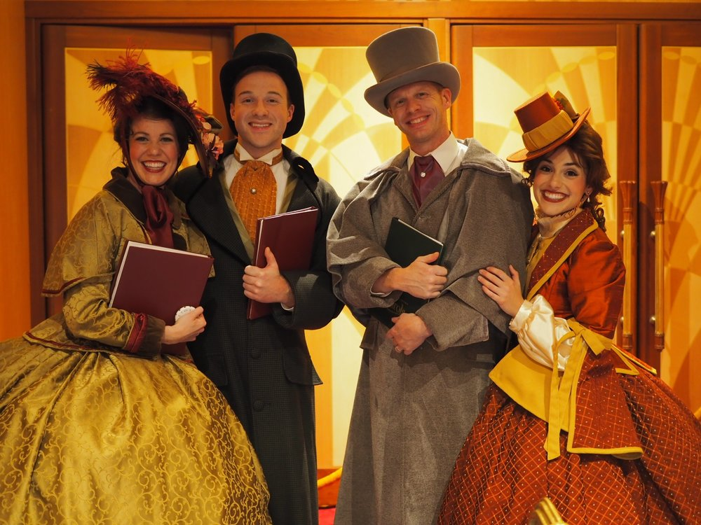 Breanna (far left) as a Dickens Caroler
