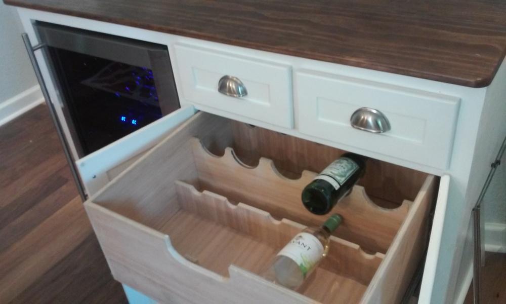 Custom Bar Cabinet & Hutch