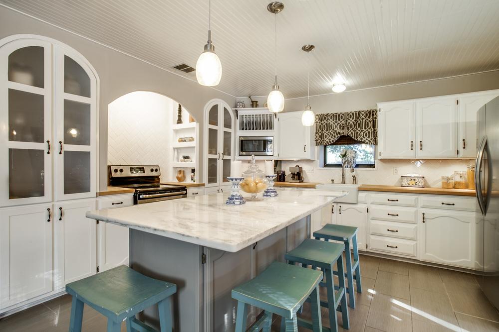 White & Gray Kitchen Remodel