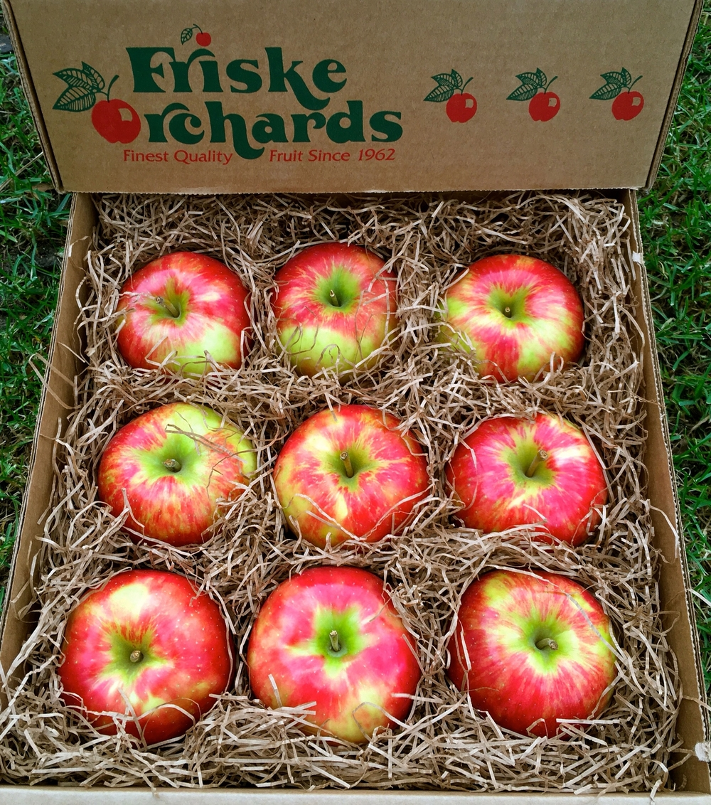 Honeycrisp apple gift box, Friske Orchards Farm Market, Atwood/Charlevoix Michigan