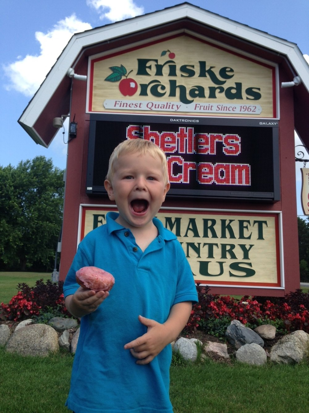 Friske's Farm Market is known for their cherry donuts