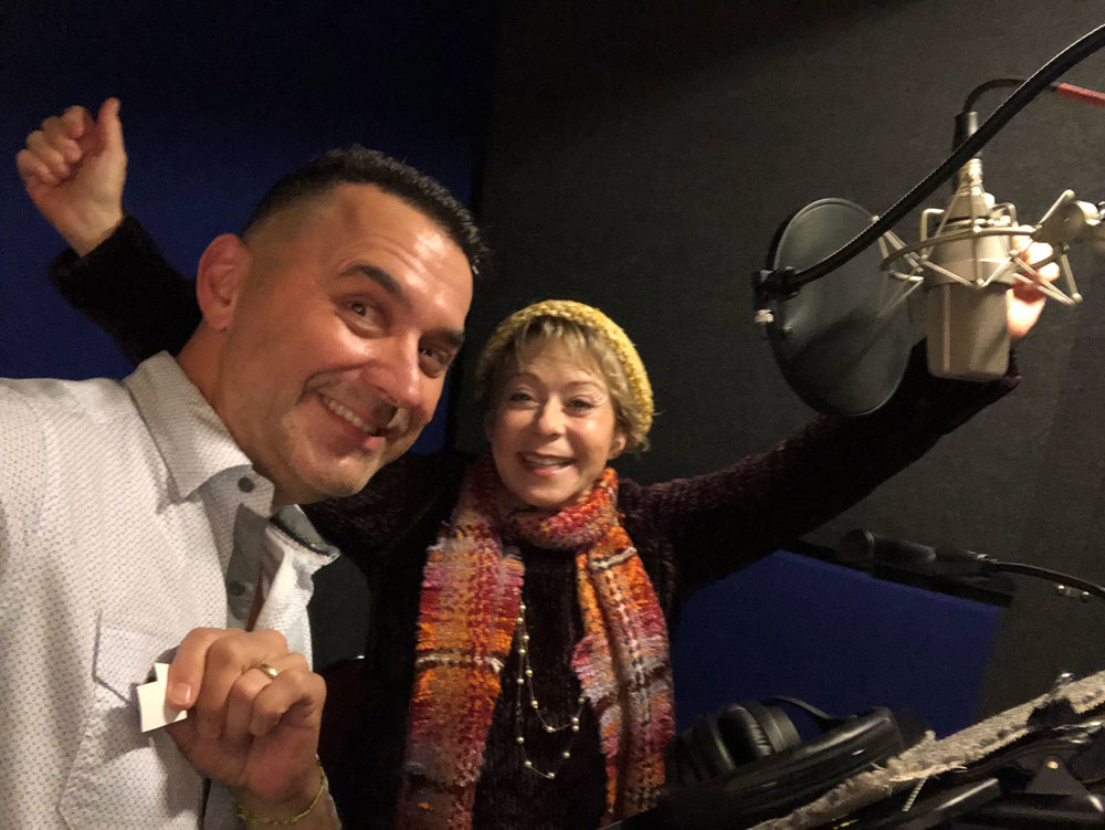 René & Debi in the booth
