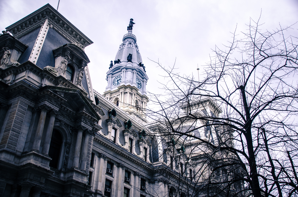 Wintery Philadelphia City Hall