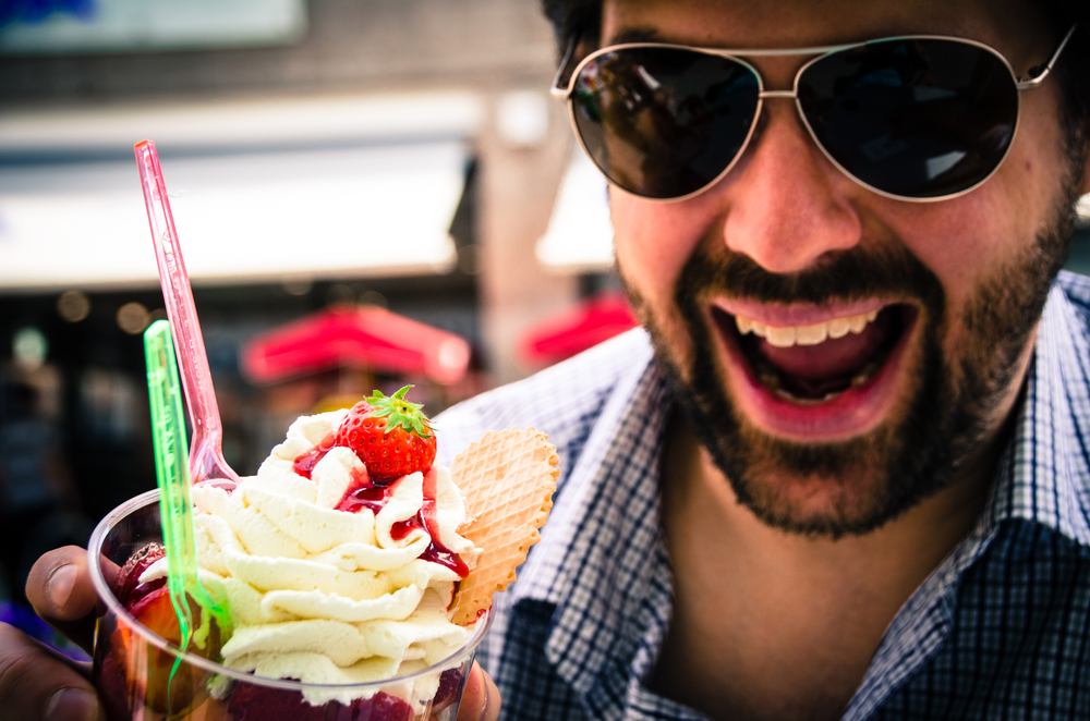 Happy Man with Gelato