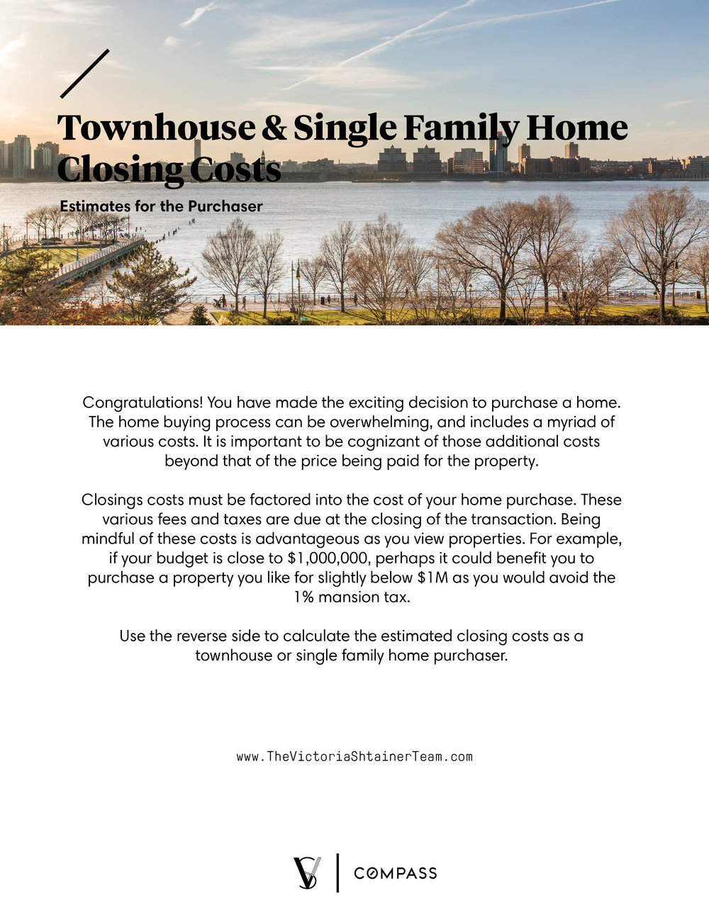 Townhouse Closing Cost Estimator