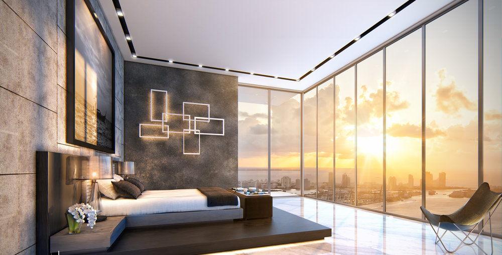 Echo Brickell Master Bedroom