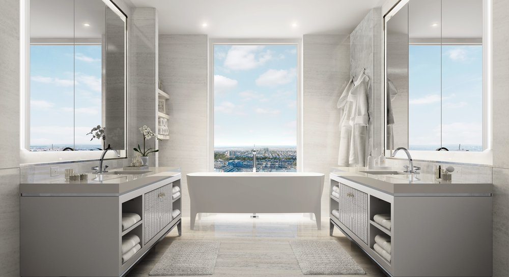 35 Hudson Yards Master Bathroom Related Oxford