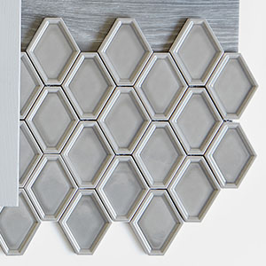 Nova Hex Smoke Ceramic Mosaic Tile