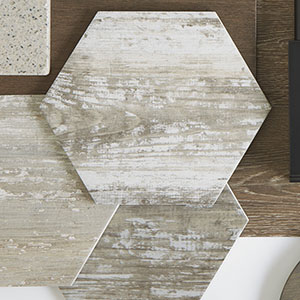 Suomi Grey Hex Porcelain Wall & Floor Tile