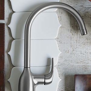 Essie Spot Resist High Arc Kitchen Faucet
