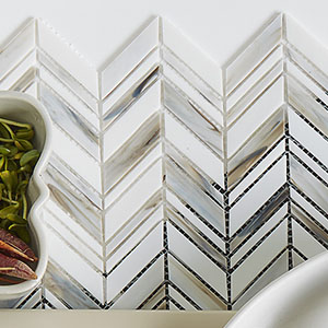 Alato Beachwalk Chevron Glass Mosaic Wall Tile