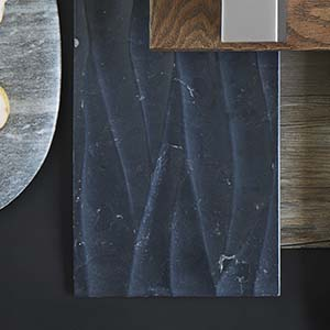 Noir Engraved Travertine Wall Tile