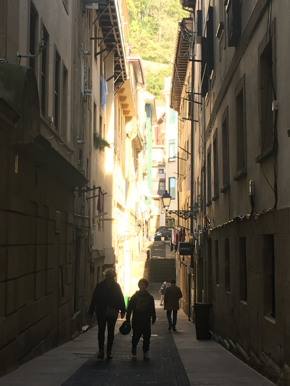 Narrow Streets of San Sebastian/Basque - one of our favorites day trips in Spain